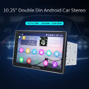 JOYFORWA 10 Inch Double 2 Din Car Stereo Radio 1024*600 Bluetooth Screen Mirroring USB
