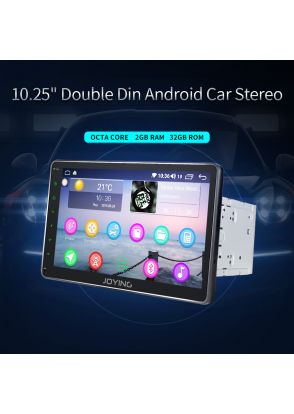 JOYFORWA 10.1 Inch Double Din Android 2+32GB Car Stereo FM Radio GPS Wifi DSP Fast Boot