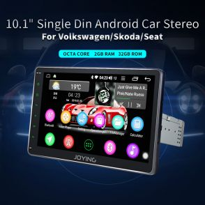 "JOYFORWA 10.1"" Android 8.1 GPS Sat Nav Car Head Unit Radio for VW GOLF MK5 MK6 PASSAT TOURAN"