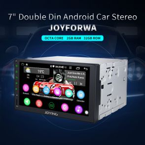 JOYFORWA 7 Inch Double Din Car Stereo Sound System Head Unit With 4G Module