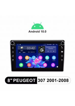 2001-2008 Peugeot 307 Android 10.0 Touch Screen Car Navigation System With SPDIF