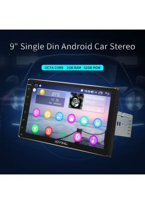 "JOYFORWA Android 8.1 Head Unit 9"" Single DIN Car Music Player GPS SAT NAV BT DAB+Radio"