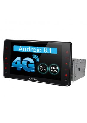 JOYFORWA 6.2 Inch Single DIN Android Stereo 4GB RAM 64GB ROM Octa Core GPS FM RDS USB Support Bluetooth Wifi