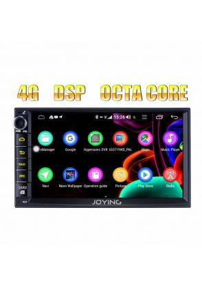 JOYFORWA 7 Inch LCD Touch Screen Indash Double Din Head Unit 4GB Ram 64GB ROM Support Bluetooth Wifi 4G 1024*600 HD Universal Navigation