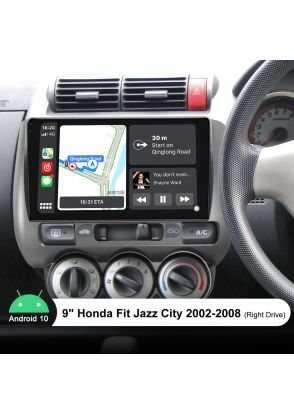 Joyforwa 9 Inch Android 10.0 Car Radio Replacement For Honda Fit City Jazz 2002-2008