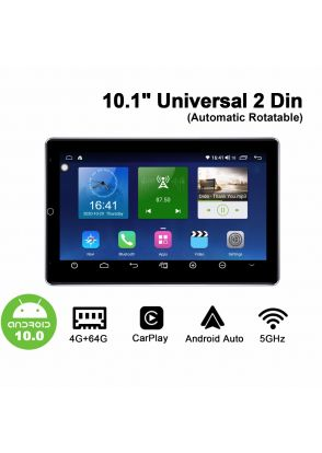 Joyforwa 10.1 Universal Double Din  Android 10.0 Automatic Rotatable Screen Head Unit With 1280*800