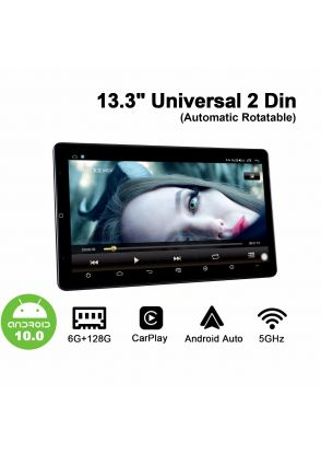 Joyforwa Newest Released 13.3 Inch Automatic Rotatable Double Din Universal Car Stereo With 6GB+128GB