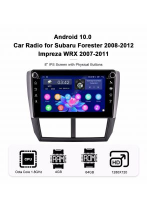 Joyforwa 8 Inch 2008-2012 Subaru Forester Impreza Android 10.0 Car Stereo With 1280*720