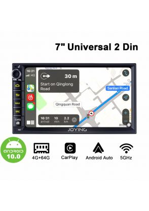 Joyforwa Latest 7 Inch Double Din Android 10.0 Car Navigation System Built-In DSP