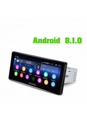 JOYFORWA 8.8 Inch Single 1 Din Wide Screen Android 8.1.0 Car Music Player Head Unit