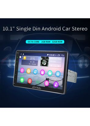 """JOYFORWA 10.1"""" 1 Din Touch Screen Octa Core Car Stereo Radio GPS Mirror Link Android 8.1"""