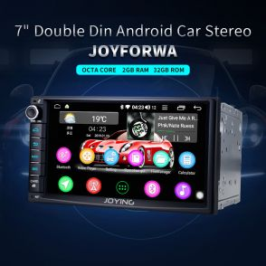 JOYFORWA 7Inch JOYING Car Stereo Head Unit Double Din with GPS WiFi Support Fastboot DSP