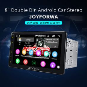 JOYFORWA 8 Inch Touch Screen Double Din Universal Head Unit Support WiFi Bluetooth PIP