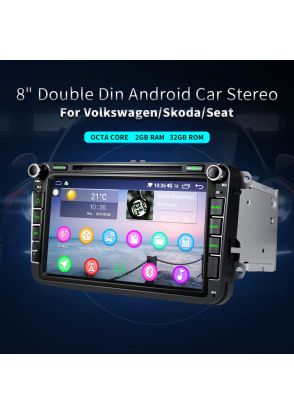 JOYFORWA 8 Inch Audio 4K Bluetooth OBD2 WIFI GPS USB Car Radio Head Unit For VW
