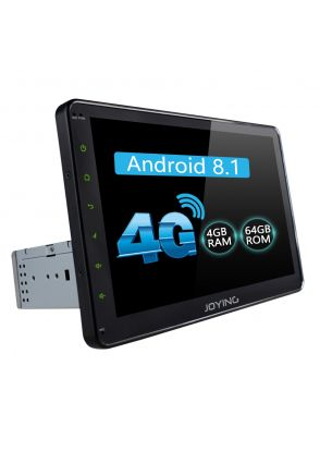 JOYFORWA  Latest Android 8.1.0 Big Screen Single Din Car Music System With 4G SIM Card Slot