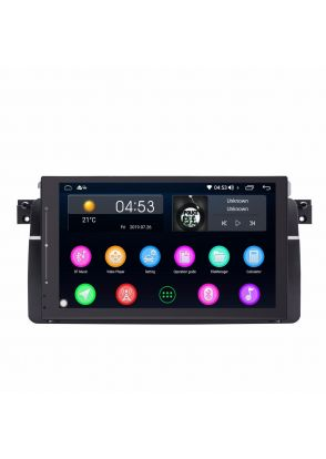 JOYFORWA  Newest Car Stereo Radio 9 Inch Touch Screen GPS Navigation Head Unit Support Plug and Play Bluetooth Hands-Free WIFI  Screen Mirroring for BMW E46