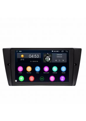JOYFORWA 9 Inch HD Digital Touch Screen Car Stereo Radio In-Dash With GPS Navigation CANbus Screen Mirroring Function For BMW E90 E91 E92 E93