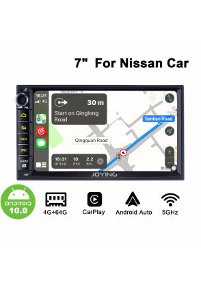 7 Inch Nissan X-Trail Sentra Qashqai Android 10.0 Car Sound System With 1024*600